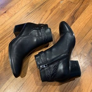 Coach Black Leather Patricia Booties